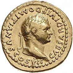 Aureo - oro - Roma (80-81 d.C.) - CAESAR DIVI F DOMITIANVS COS VII. - Domiziano laureato di profilo vs.dx. - Münzkabinett Berlin