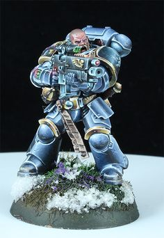 The Internet's largest gallery of painted miniatures, with a large repository of how-to articles on miniature painting Warhammer Paint, Warhammer 40000, Wolf Painting, Figure Painting, Warhammer 40k Space Wolves, Miniaturas Warhammer 40k, Minis, Hobbies For Men, Warhammer 40k Miniatures