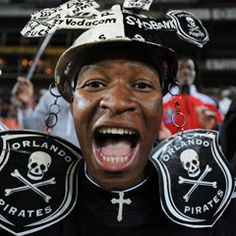 Orlando Pirates have received a suspended fine after one of their fans threw porridge at a referee, the country's PSL said. Referee, Happy People, Orlando, Pirates, Captain Hat, Soccer, Fans, Baseball Cards, Sports