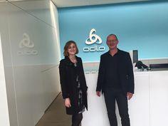 Wieder ein erfolgreiches Meeting mit Odlo beendet. -Juliane & Ralf #peakperformance #odlo #onlinemarketing