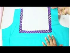 How To Attach Saree Border To The Neckline (DIY) - YouTube A Line Kurti, Saree Border, Asian Style, Neckline, Sewing, Stitching, Diy, Blouse, Youtube