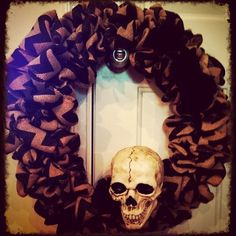 Spooky Skull Wreath - $45.00  www.hopeshangings.com