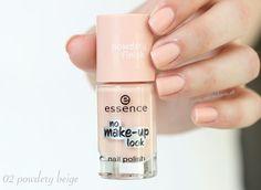 Essence no make-up look nail polish - 02 powdery beige