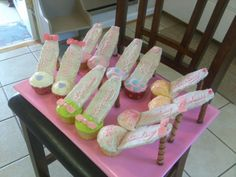 High-heel shoes cupcakes I made for niece's birthday.....