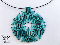 Necklace made with Miyuki earring - Peyote triangle loom - by Bravigcreations on Etsy https://www.etsy.com/listing/519170272/necklace-made-with-miyuki-earring-peyote