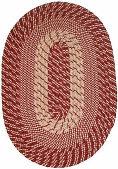 Plymouth 6' x 6' Round Braided Rug in Red by Constitution Rugs LLC. $105.99. Banded premium tubular braided rug enhances both contemporary and traditional room decors