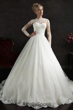 Wedding dress Nubia - AmeliaSposa Full-lace sleeves are so elegant...♥