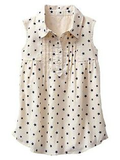 Starry pintuck shirtdress | Gap #kidsfashion