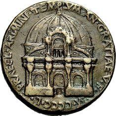 Medalla conmemorativa del templo malatestiano de Alberti en Rímini