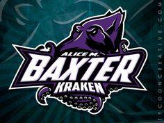 Alice M Baxter Kraken Project on Behance - American Logo Sport Theme