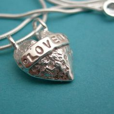 """my sterling silver """"loved"""" heart necklace  ♥ tejae"""