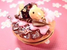 Sweet Deco Baked Kitty Waffle Kawaii Squishy Mirror by Lucifurious, $12.00