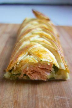 Feuilleté saumon et épinard :: La cuisine d'Elise et Julie