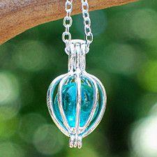 Recycled Vintage Mason Jar Silver Drop Necklace