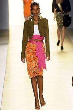 Céline Spring 2003 Ready-to-Wear Fashion Show - Michael Kors, Liya Kebede