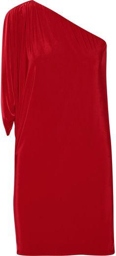 T-Bags Stretch-satin jersey mini dress