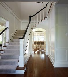 Nantucket colonial house tour - its overflowing details i like in 2019 дом. Nantucket Style Homes, Nantucket Home, Center Hall Colonial, 1920s House, Foyer Decorating, Layout, House Tours, Home Remodeling, Beautiful Homes
