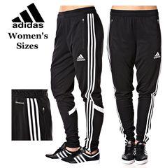 Women's Adidas Soccer Pants Condivo 14 Slim Fit  Climacool Black Skinny Athletic #adidasCondivo14Womens #PantsTightsLeggings