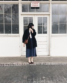 comfy new year's day outfit. layered my @elizsuzann linn tee over a @storq nursing caftan and topped it off with vintage @eileenfisherny. #ootd #ethicalfashion #slowfashion