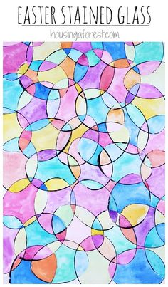 Watercolor Easter Eggs ~ Colorful Easter art projects