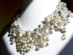 Pearl Statement Necklace Custom Listing Reserved for Pete
