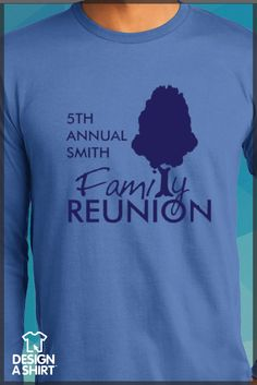 Think custom t-shirts for your Family Reunion would cost too much? Think again! We print and ship across the U.S.