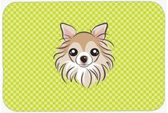 Checkerboard Lime Green Chihuahua Mouse Pad, Hot Pad or Trivet BB1313MP