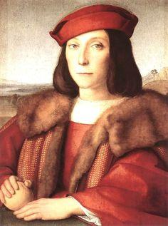 Raphael (Raffaello Sanzio da Urbino) ~ Young Man with an Apple, 1505