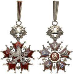 TSCHECHOSLOVAKIA - Orden vom Weißen Löwen [Československý řad bílého Iva]. 1. Modell (Löwe mit Krone – 1922-1939), Kommandeurskreuz für Zivilverdienst, Silber vergoldet und emailliert, 1100E