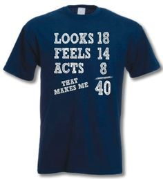 aa7da239 40th birthday shirt 55th Birthday, 40th Birthday Parties, Man Birthday, Birthday  Shirts,