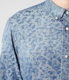 Mens Felis Shirt (Indigo Chambray)   ALLSAINTS.com