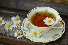 Benefits of drinking chamomile tea range from reducing stress to improving heart health. People around the world have used chamomile tea as a . Herbs For Sleep, Happy Pregnancy, Pregnancy Care, Chamomile Tea, Brain Health, Natural Home Remedies, Drinking Tea, How To Relieve Stress, Herbs