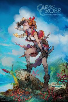 Tribute art of KID from Chrono Cross. Chrono Cross didn't have enough love but I hope I can bring some nostalgia to those who enjoyed it back then. Chrono Trigger, Cross Art, Geeky Wallpaper, Character Concept, Character Design, Passion Pictures, Chrono Cross, Dragon, Fan Art