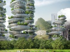 <p>The design incorporates housing, office, and leisure spaces, as well as urban farming to reduce the need for imports from the countryside.</p>