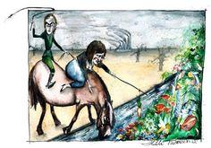 :Gulrot og pisk. Illustrasjon: Hilde Thomsen