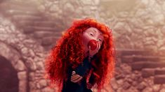 """Merida's affinity for apples has a hidden sentimental meaning in the movie. The name """"MacIntosh"""" is a common Scottish surname as well as the name of a type of apple. On the deeper level, it's a reference to the Apple brand. As a co-founder of Apple, Steve Jobs played a big role in Pixar and the movie is dedicated in part to him with this quote at the end credits: """"Dedicated to the memory of Steve Jobs, our partner, mentor and friend."""""""