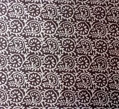 20 Yard Indian Block Print Brownish Grey Color Fabric, Wood Print 100% Cotton Soft Fabric, Dabu Print Mud Resist Hand Printed Fabric HPS#100 by handprintedshop on Etsy