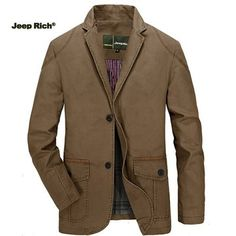 NIAN JEEP Outdoor Casual Cotton Solid Color Stand Collar Long Sleeve Jacket for Mensales-NewChic Mobile.