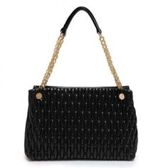 Elegant Women's Shoulder Bag With Embossing and Chain Design black pink purple white http://www.irockbags.com/elegant-womens-shoulder-bag-with-embossing-and-chain-design-black-pink-purple-white