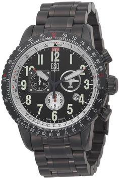 ESQ by Movado Men's 7301239 Beacon Chronograph Black PVD Watch ...