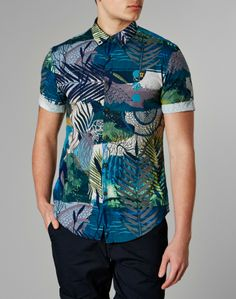 Farah Vintage Short Sleeve Shirt with All Over Print