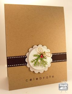 """Celebrate"" card made with the Beyond Baskets 2 stamp set by Melanie Muenchinger for Gina K Designs."