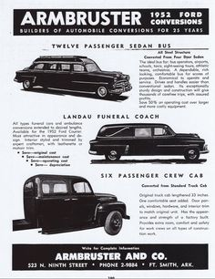 My hearse was made by M&L Coachbuilders. I don't have one of their ads.