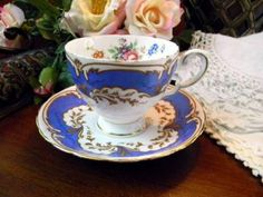 Plant Tuscan Footed Tea Cup and Saucer 8119 by VintageKeepsakes for $18.70