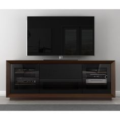 Furnitech Signature Home Collection 70 in. TV Stand - Walnut - FT70CF