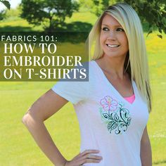 Get tips and tricks for adding machine embroidery to t-shirts from Embroidery…