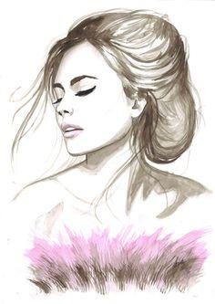 Женский образ от чешской художницы Natalia Turea, Акварель. Обсуждение на LiveInternet - Российский Сервис Онлайн-Дневников