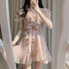 Korean Fashion Dress, Ulzzang Fashion, Harajuku Fashion, Fashion Dresses, Pretty Outfits, Pretty Dresses, Casual Dresses, Casual Outfits, Cute Fashion