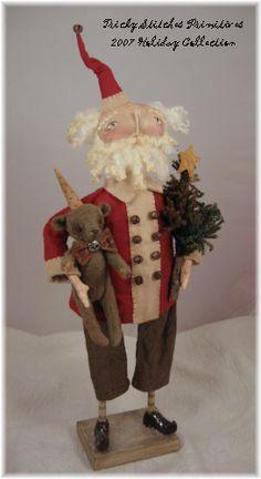 i love handmade santas....