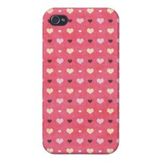 f8648316cb4ccc Heart pattern iPhone 4 case Iphone 4 Cases